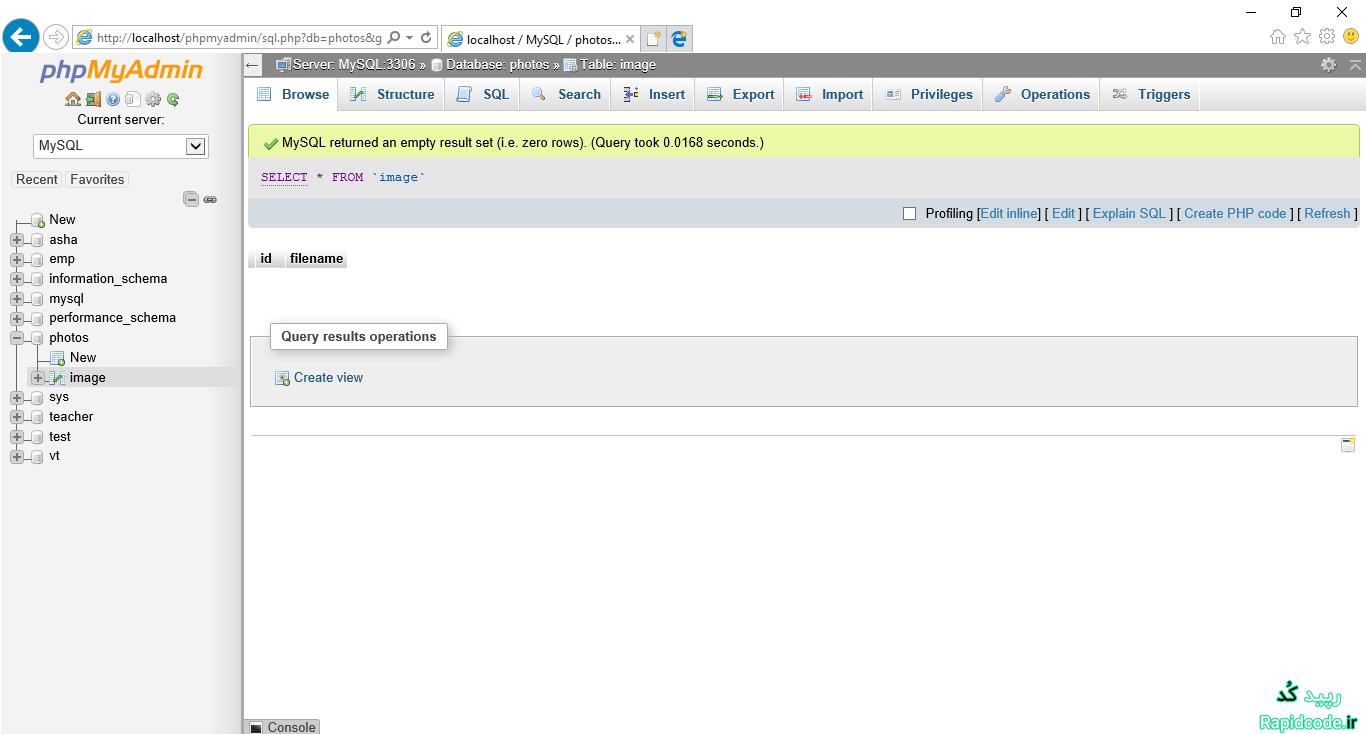 چگونه فایل تصویری در PHP آپلود و در پایگاه داده ذخیره کنیم - بخش 1