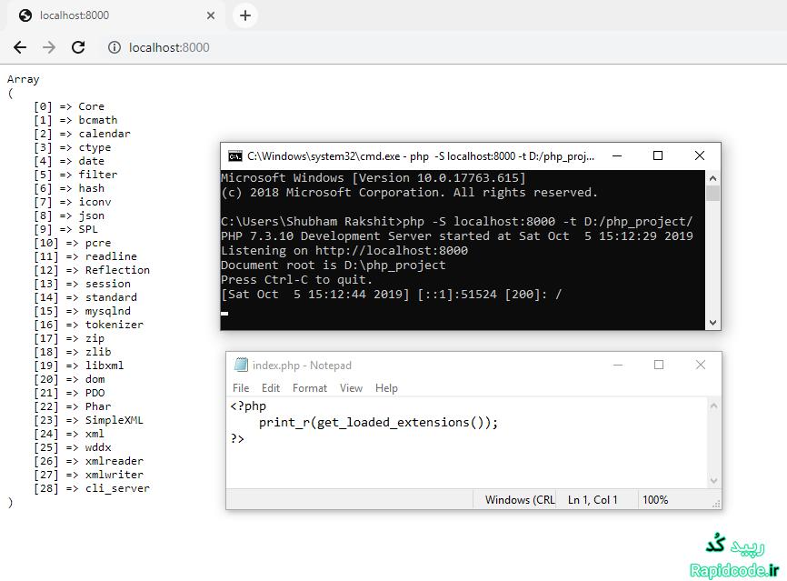 چگونه extension های بارگذاری شده PHP را نمایش دهیم ؟ - بخش 2